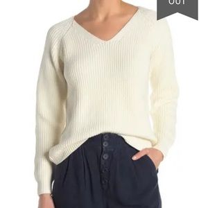 Faherty Claudette Chunky Rib Knit Sweater